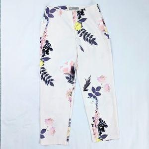 ASOS Pastel Floral Rose Crop Dress Pants - NEW